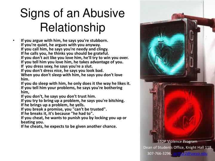 Signs of an Abusive Relationship