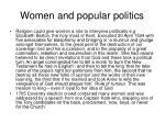 women and popular politics