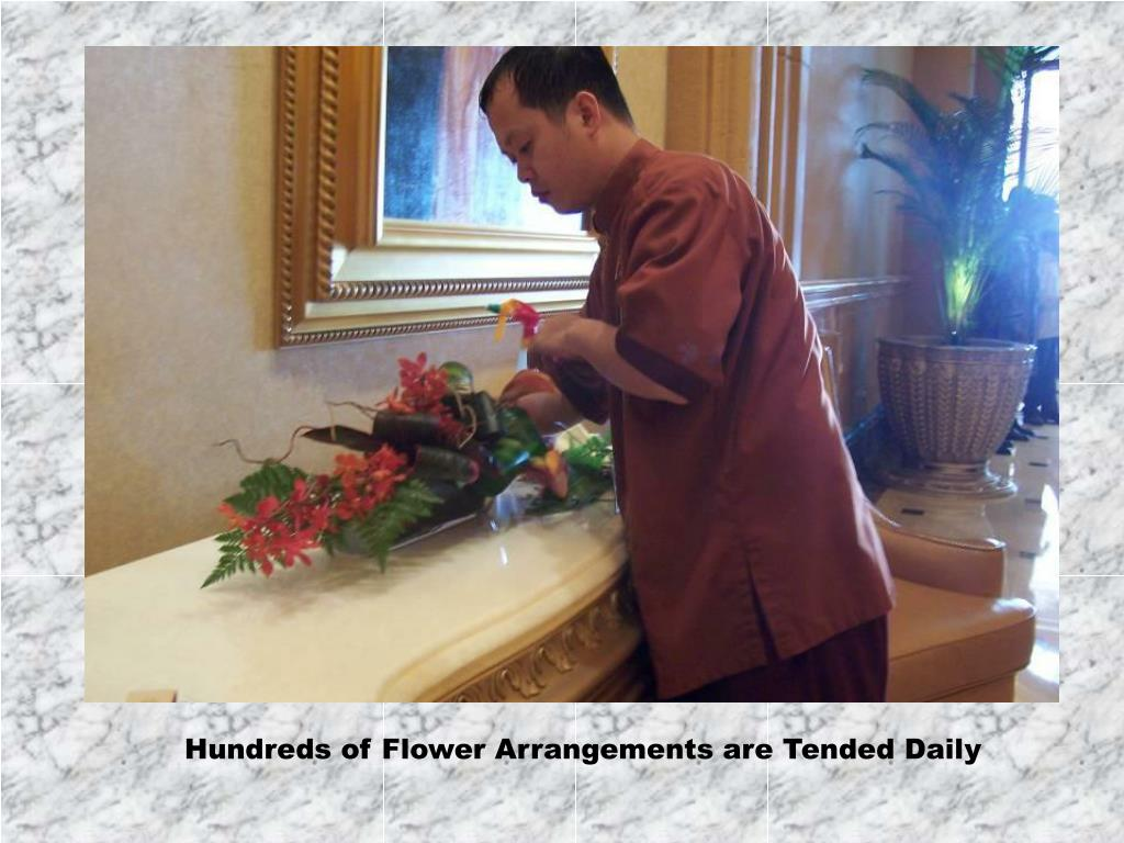 Hundreds of Flower Arrangements are Tended Daily