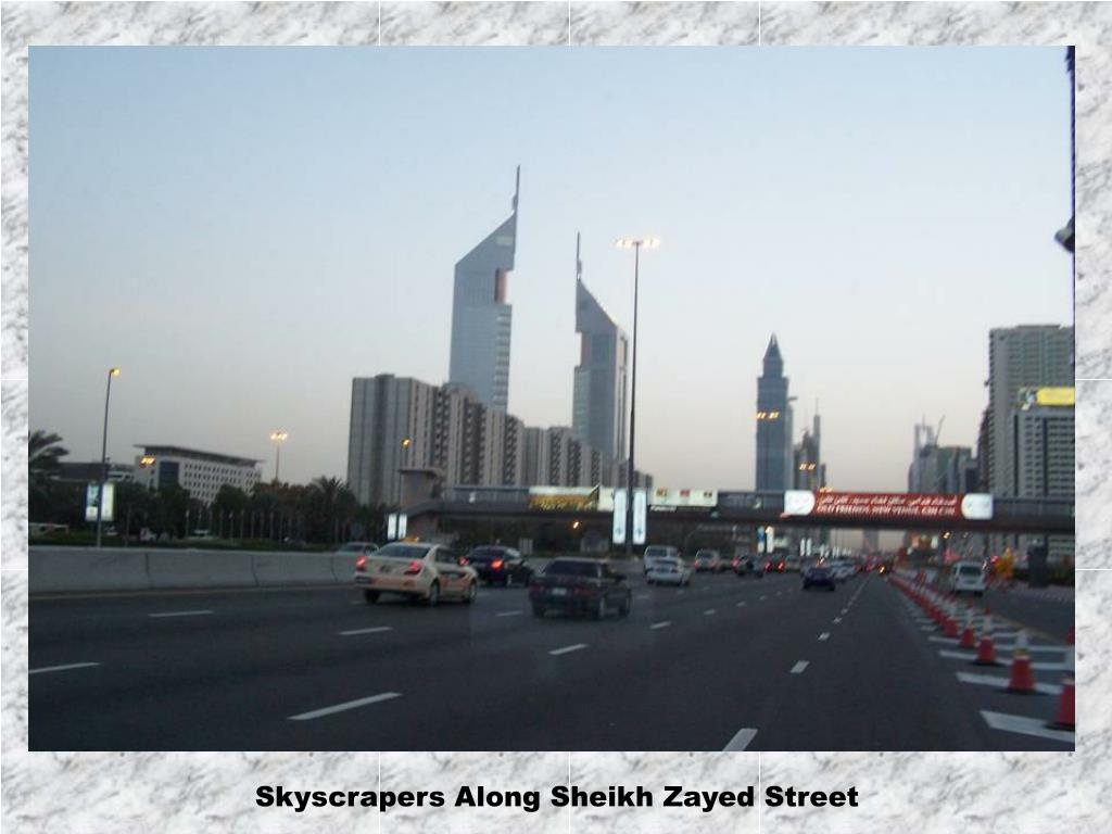 Skyscrapers Along Sheikh Zayed Street