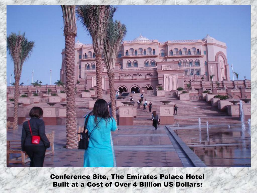 Conference Site, The Emirates Palace Hotel
