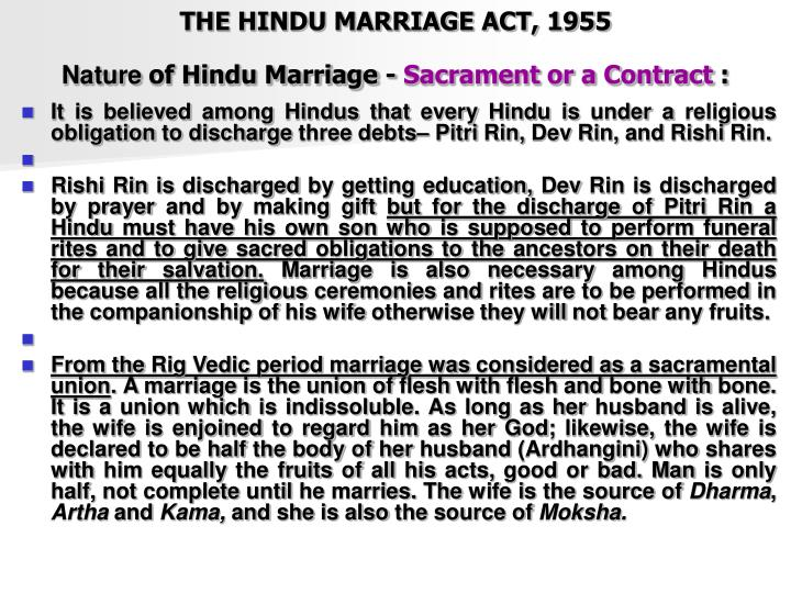 conversion under hindu marriage act Where a hindu wife converted to muslim faith and then married a mohammedan, it was held that her earlier marriage with a hindu husband was not dissolved by her conversion she was charged and convicted of bigamy under s494 of indian penal code, 1860.