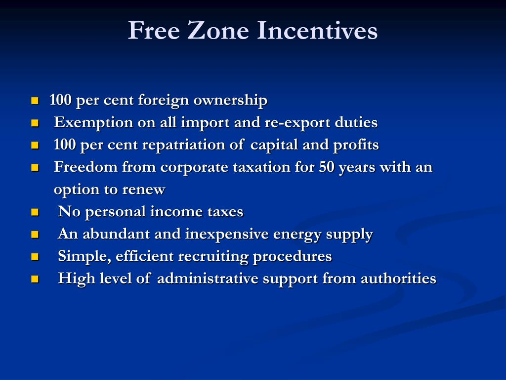 Free Zone Incentives