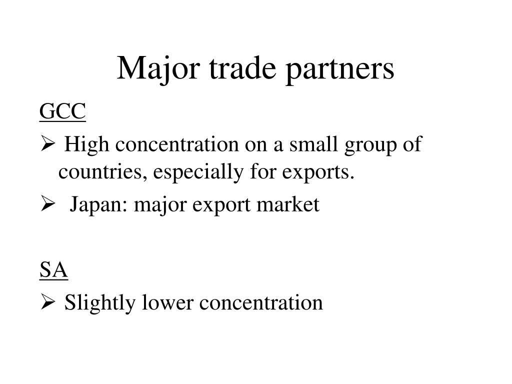 Major trade partners
