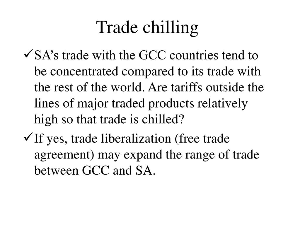 Trade chilling