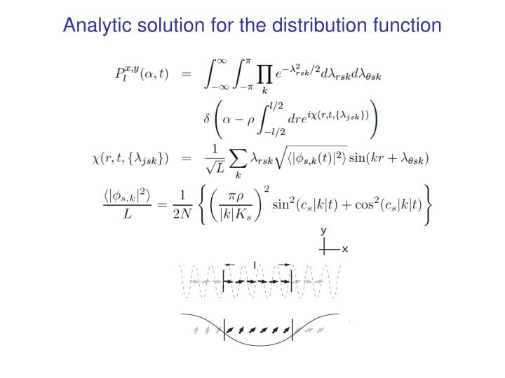Analytic solution for the distribution function