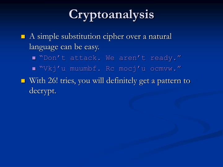 Cryptoanalysis