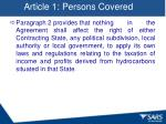 article 1 persons covered