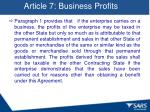 article 7 business profits