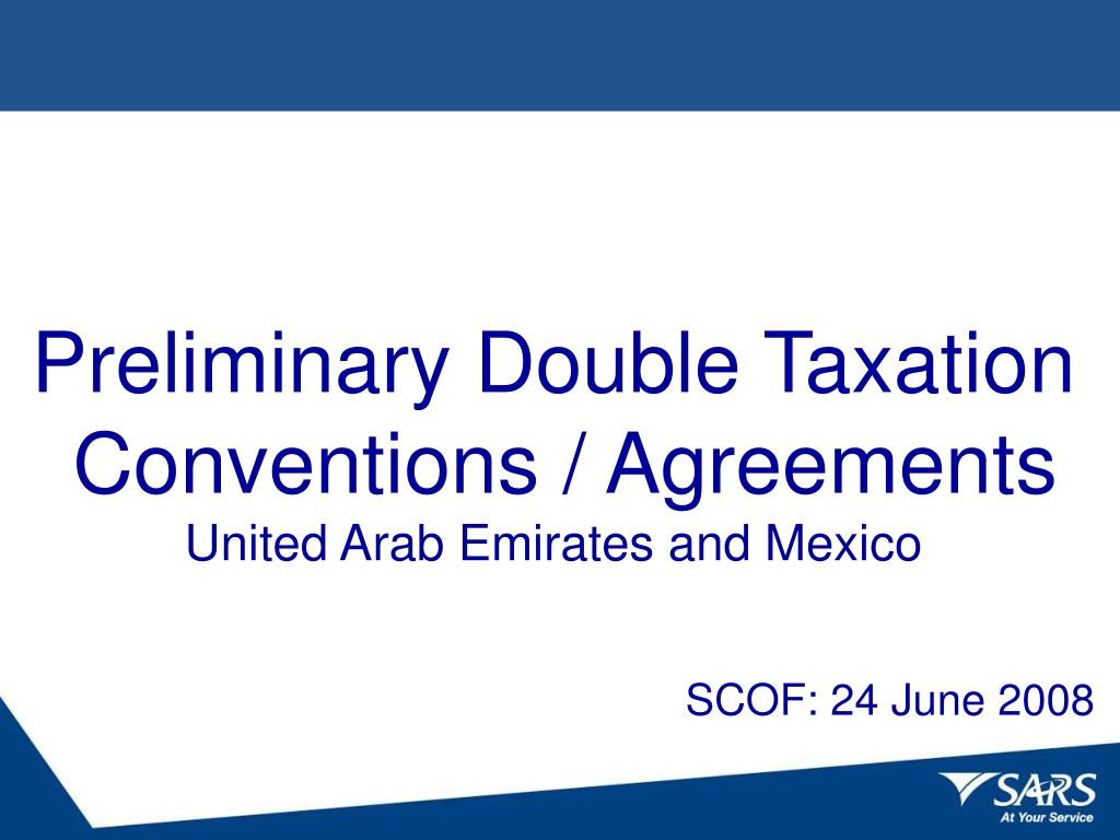 preliminary double taxation conventions agreements united arab emirates and mexico l.