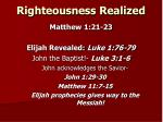 righteousness realized1
