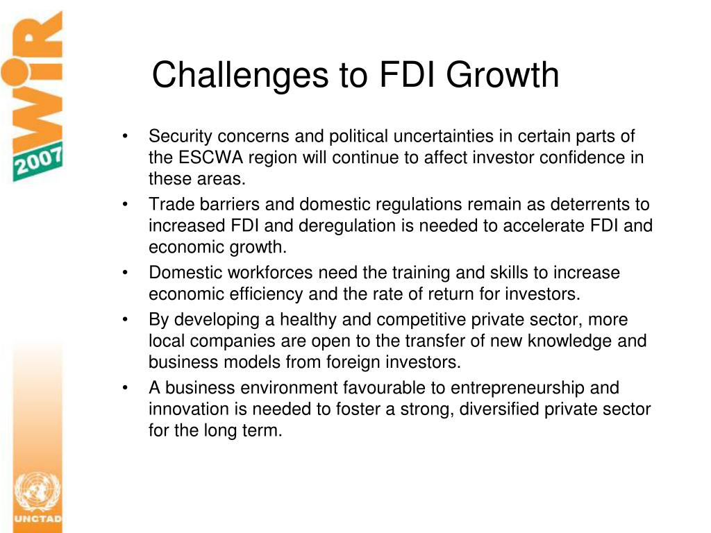 Challenges to FDI Growth