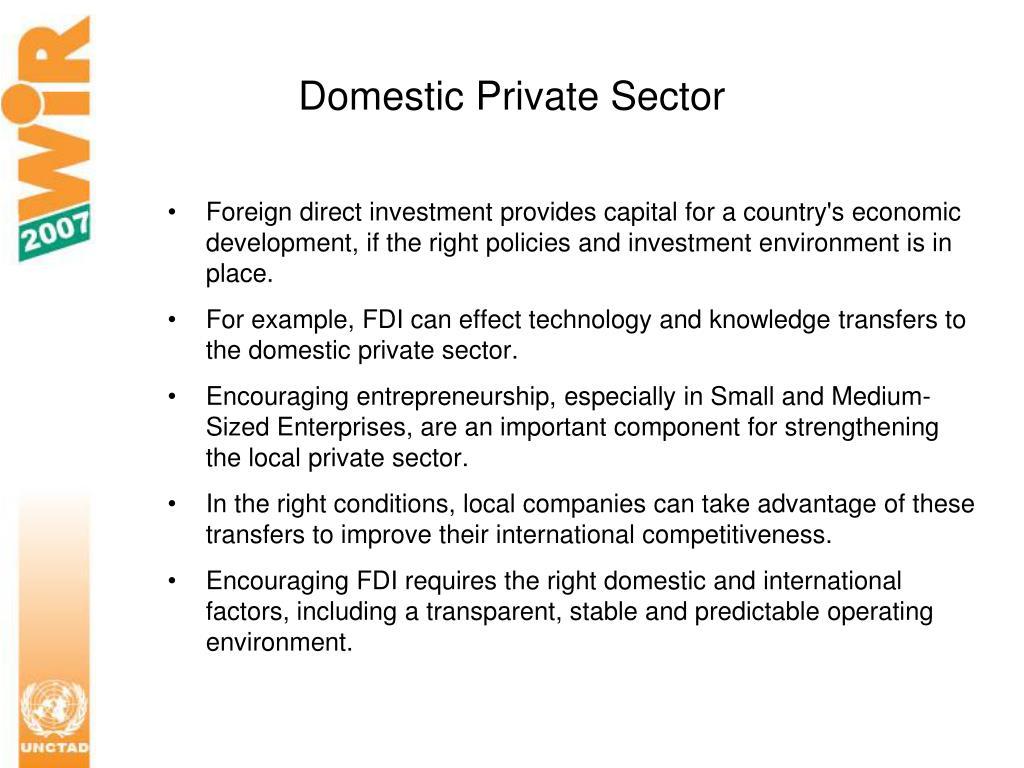 Domestic Private Sector