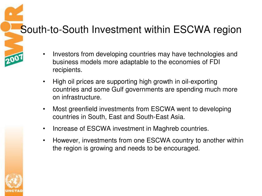 South-to-South Investment within ESCWA region
