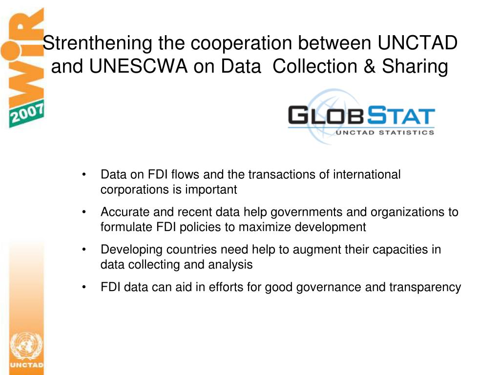 Strenthening the cooperation between UNCTAD and UNESCWA on Data  Collection & Sharing