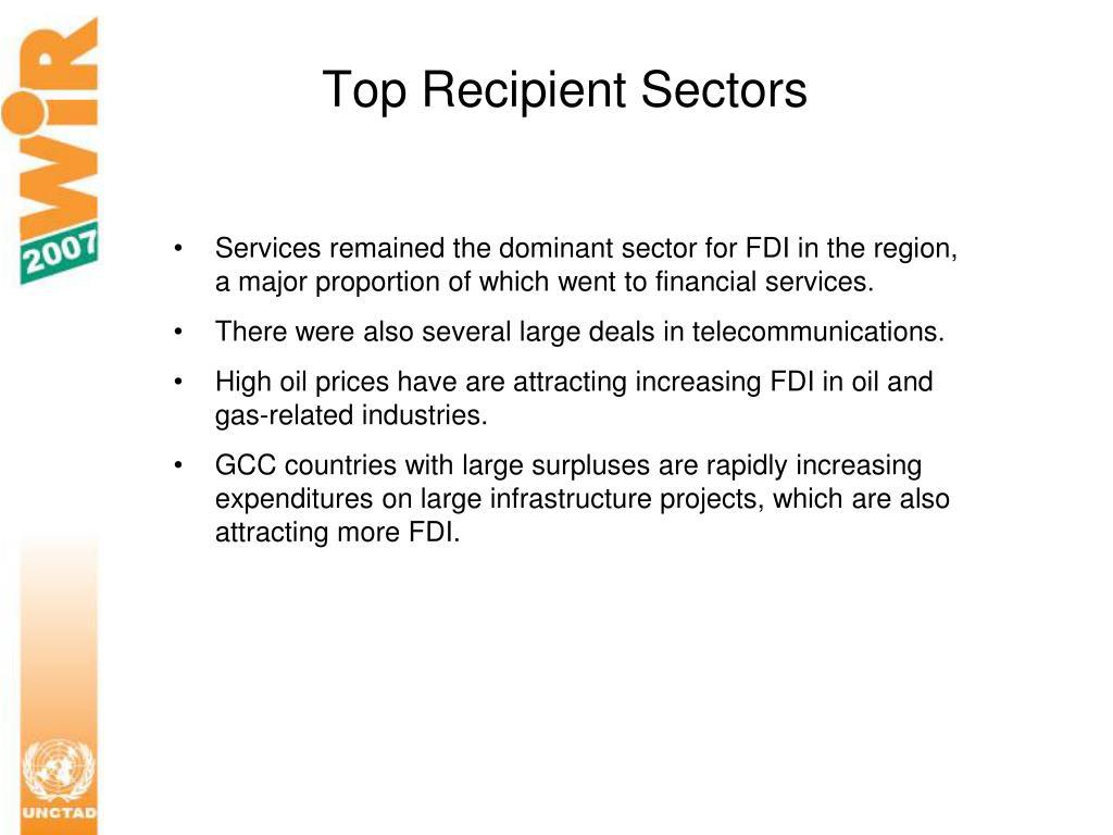 Top Recipient Sectors