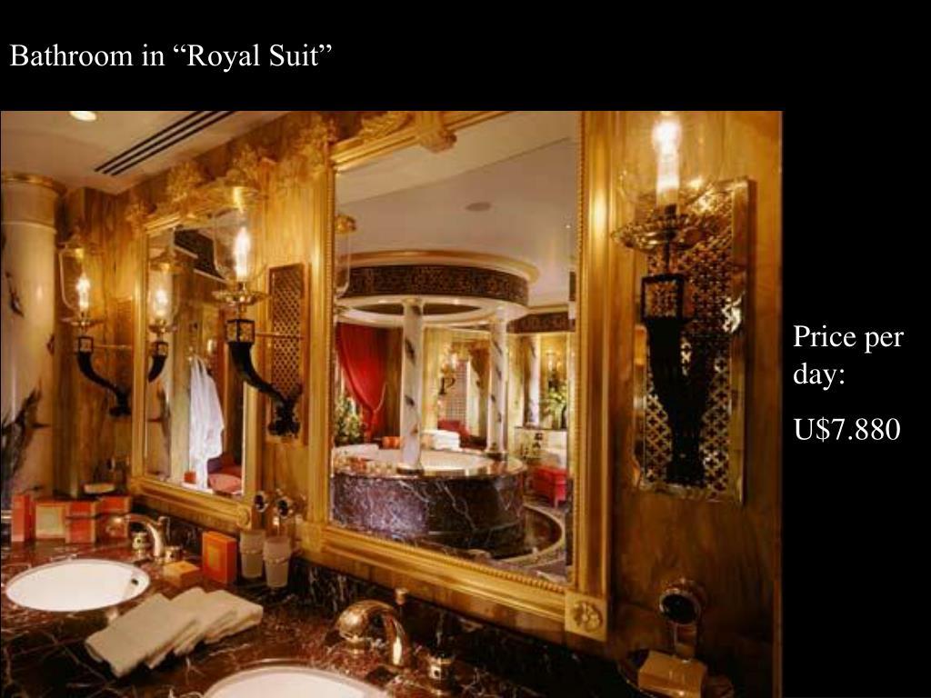 """Bathroom in """"Royal Suit"""""""