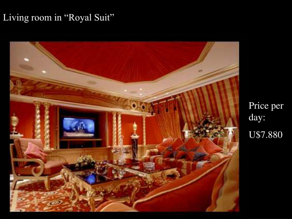 """Living room in """"Royal Suit"""""""