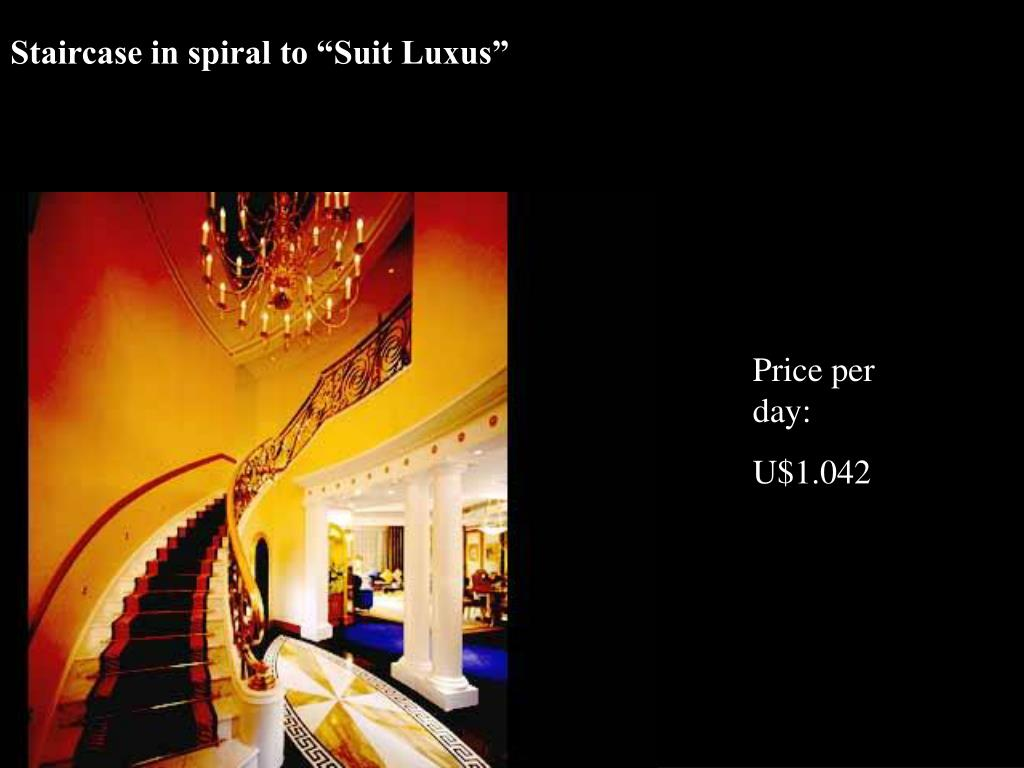 """Staircase in spiral to """"Suit Luxus"""""""