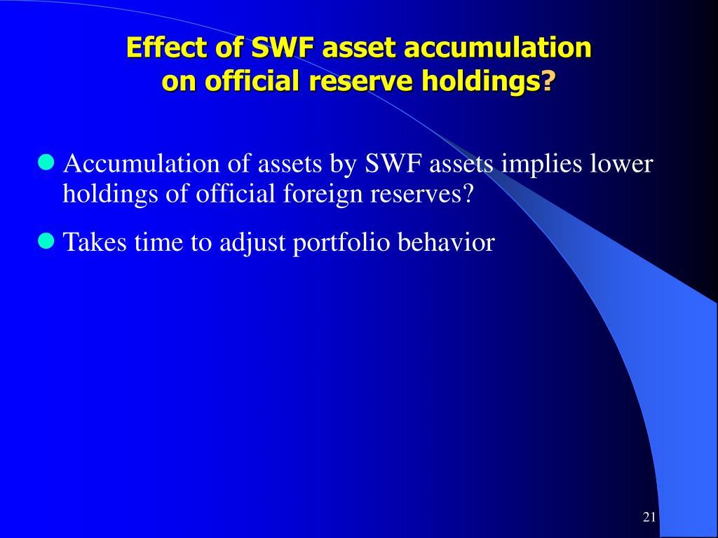 Effect of SWF asset accumulation