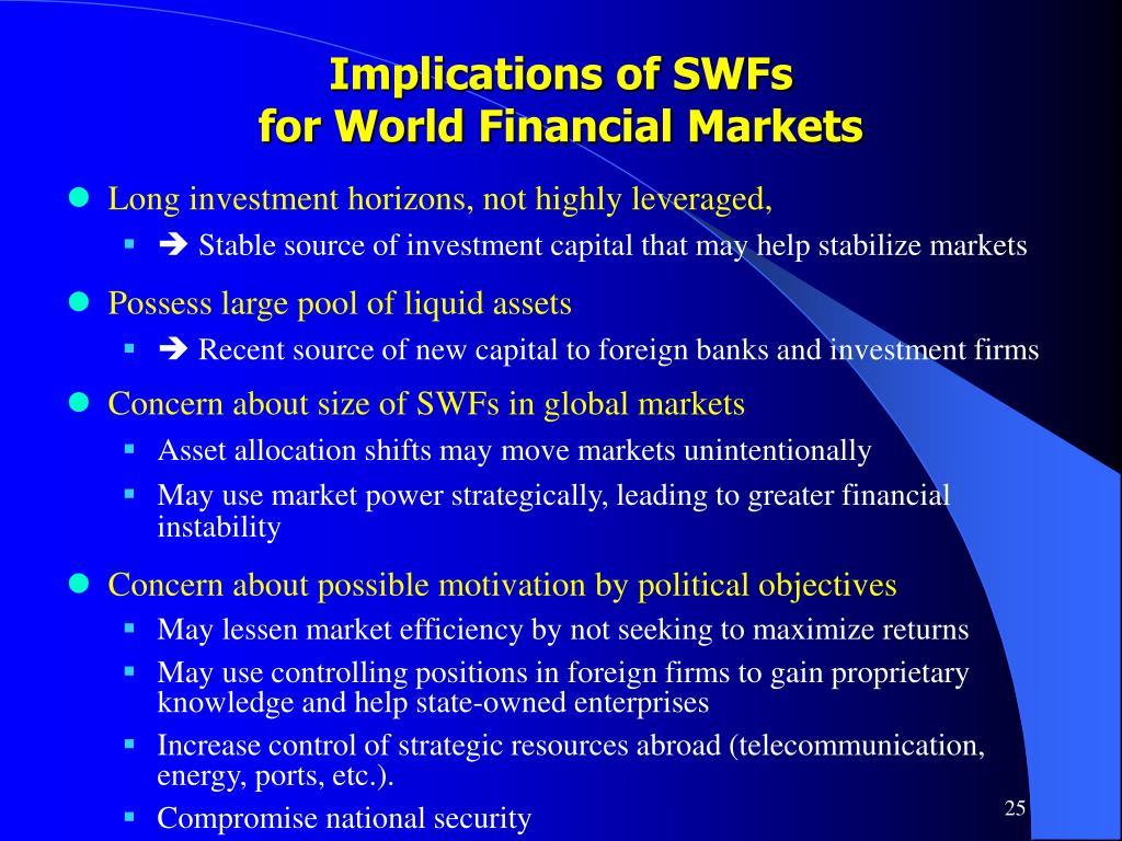 Implications of SWFs