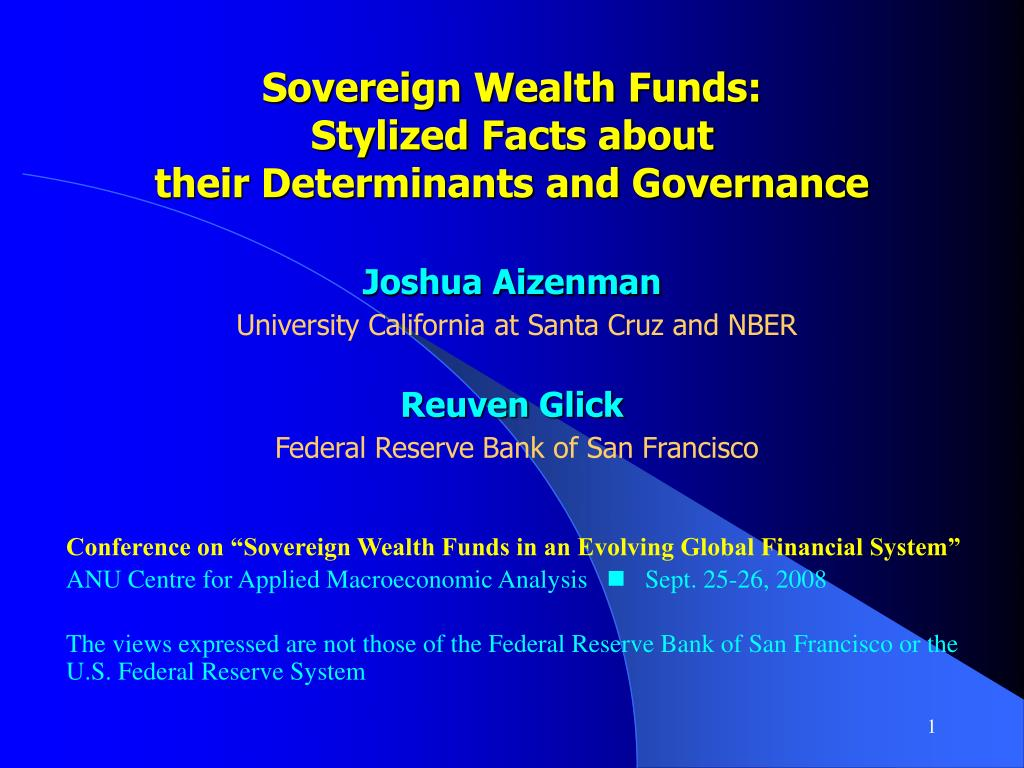 Sovereign Wealth Funds: