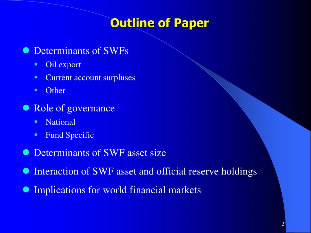 Outline of Paper