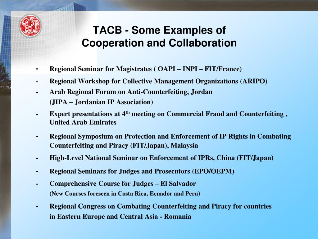 TACB - Some Examples of