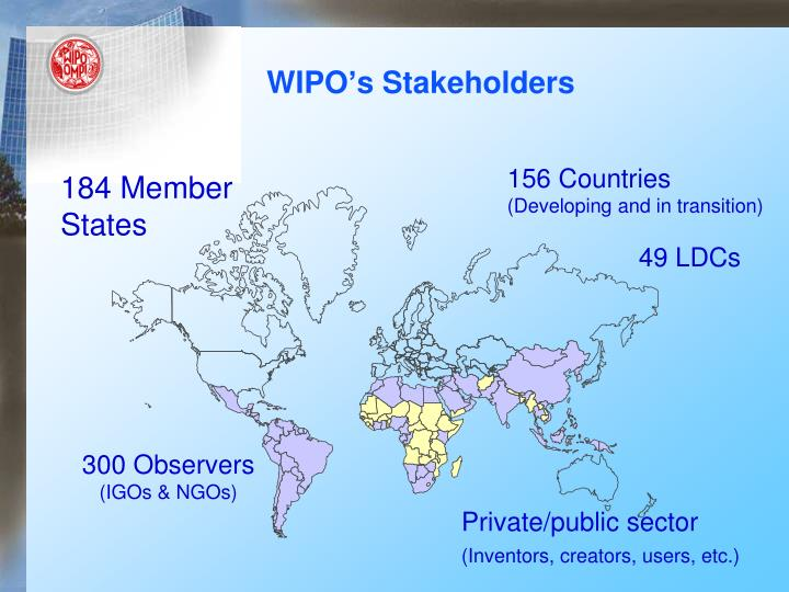 Wipo s stakeholders