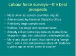 labour force surveys the best prospects