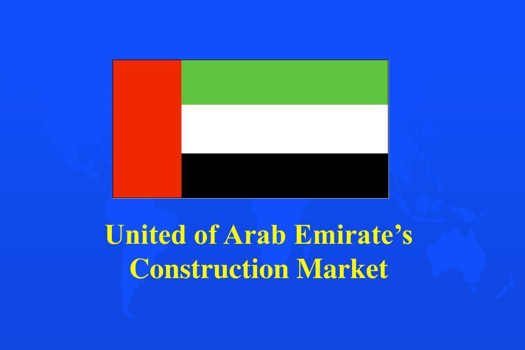 United of Arab Emirate's Construction Market