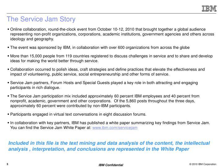 The Service Jam Story