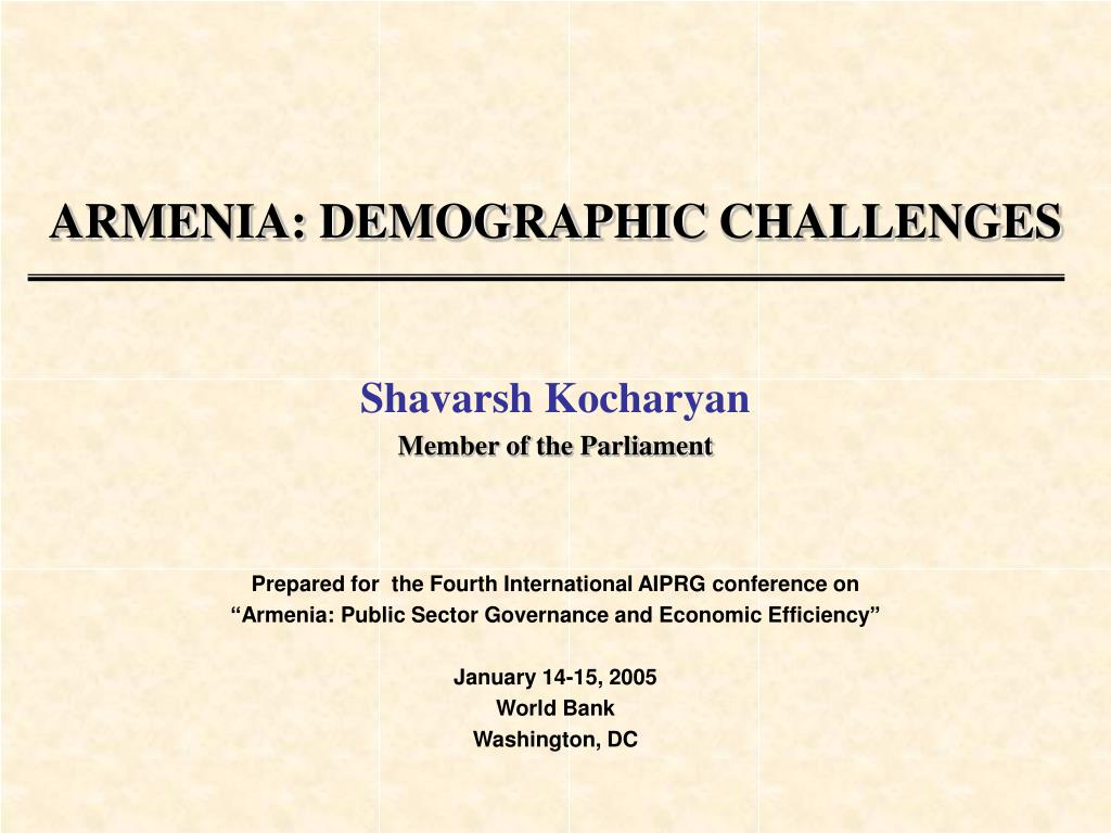 armenia demographic challenges