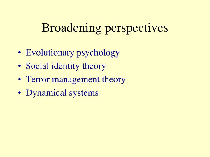 Broadening perspectives