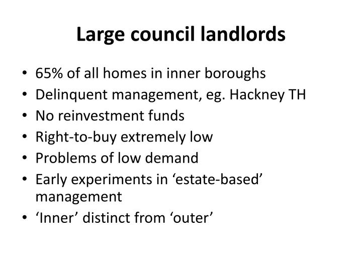 Large council landlords
