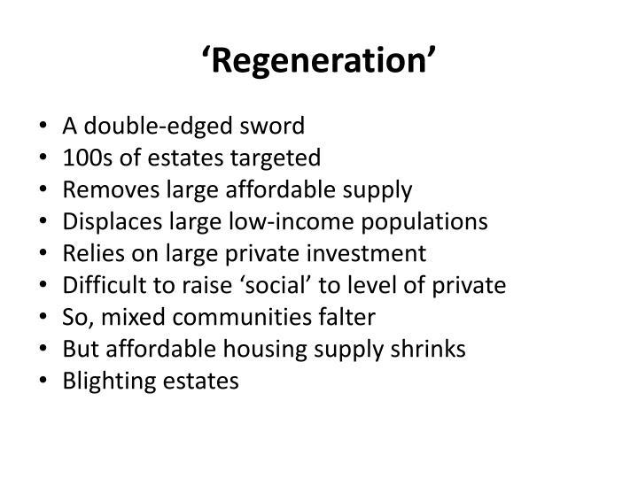 'Regeneration'