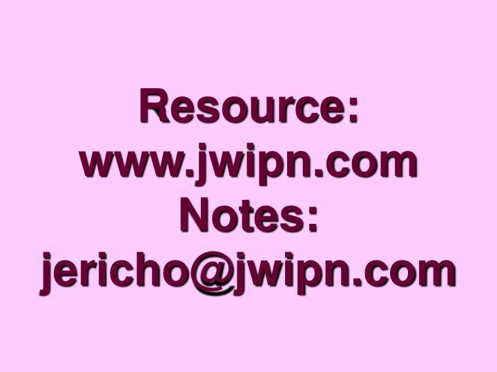 Resource: www.jwipn.com