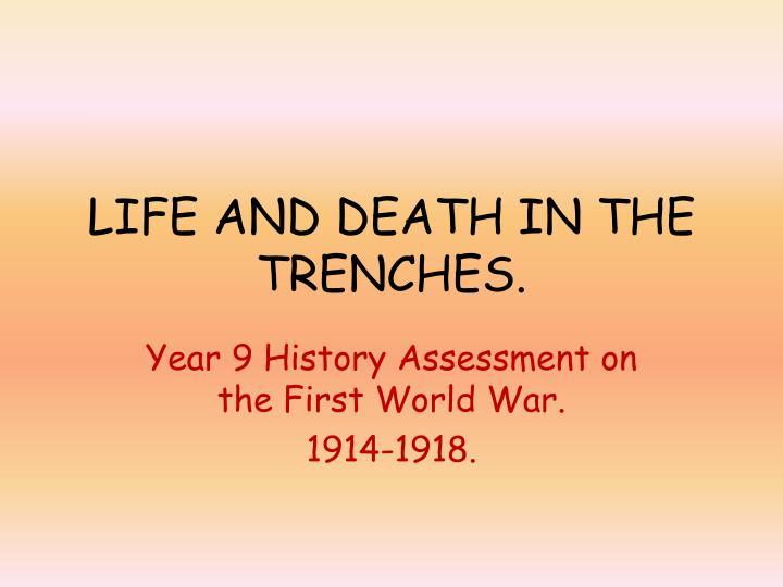 life and death in the trenches n.