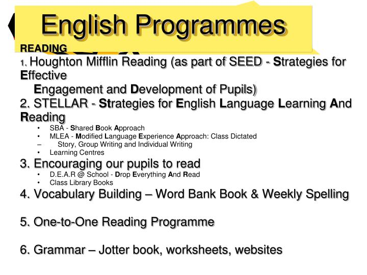 English Programmes