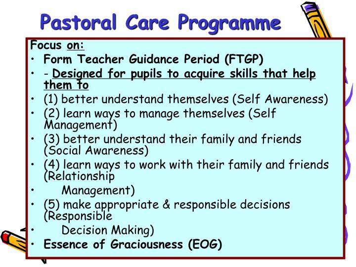 Pastoral Care Programme