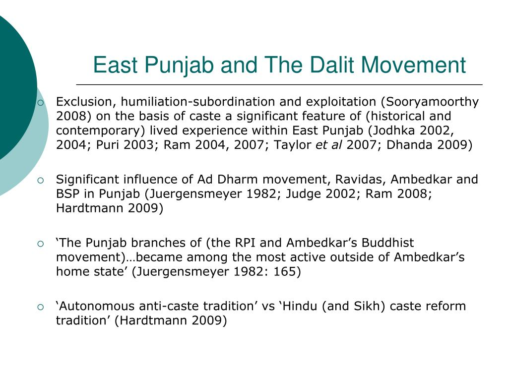 PPT - Eastern Punjabi Dalits and Religious Conversion: A
