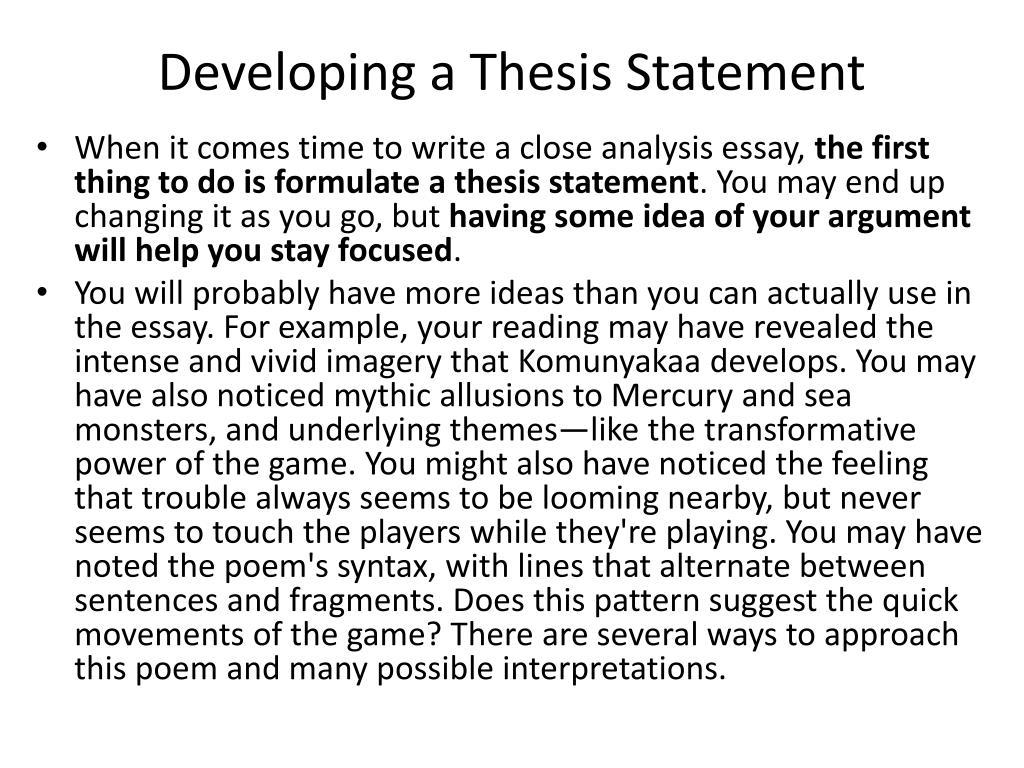 Genre essay format