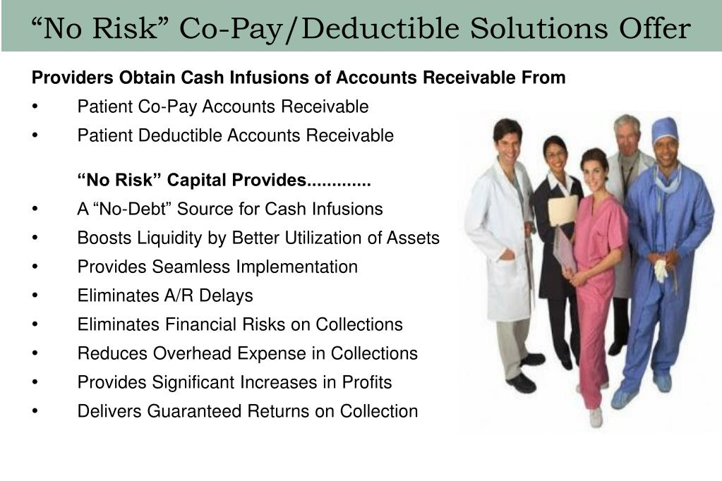 """""""No Risk"""" Co-Pay/Deductible Solutions Offer"""
