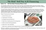 no risk self pay a r financing