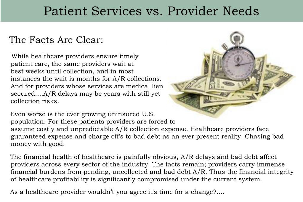 Patient Services vs. Provider Needs