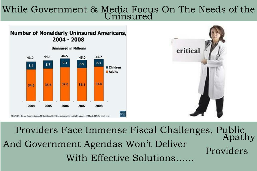 While Government & Media Focus On The Needs of the Uninsured