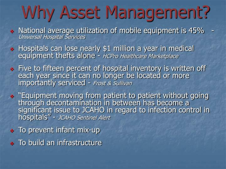 Why Asset Management?