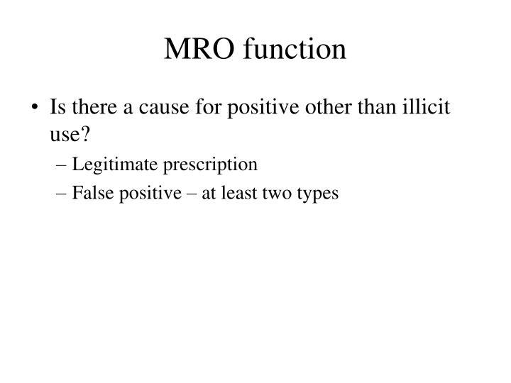 MRO function