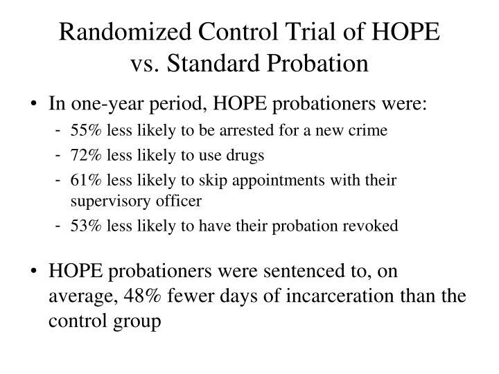 Randomized Control Trial of HOPE