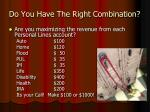 do you have the right combination2
